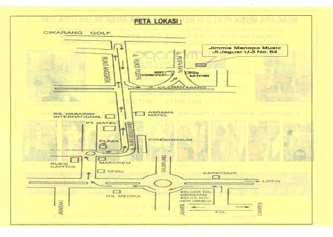 Peta Lokasi Jimmie Manopo Music School & Studio